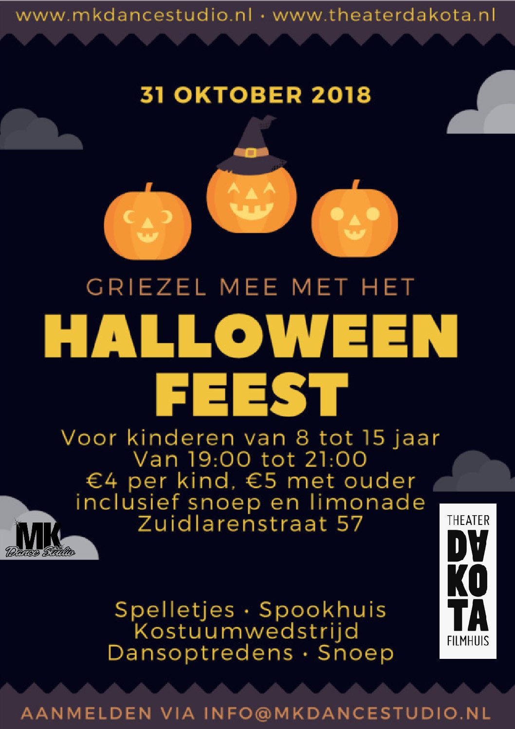31 Oktober Halloween Feest.Aanmelden Halloween Feest Gestart Mk Dancestudio